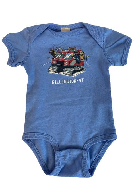 Killington Logo Snowcat Baby Onesie