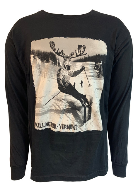 Killington Logo Ski Moose Long Sleeve Tee