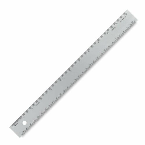 6IN Silver Alumicolor 1589-1 Aluminum Straight Edge with Center Finding Back