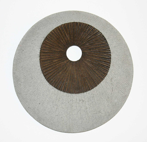"""1"""" x 14"""" x 14"""" Brown amp; Gray, Round, Ribbed - Wall Decor"""