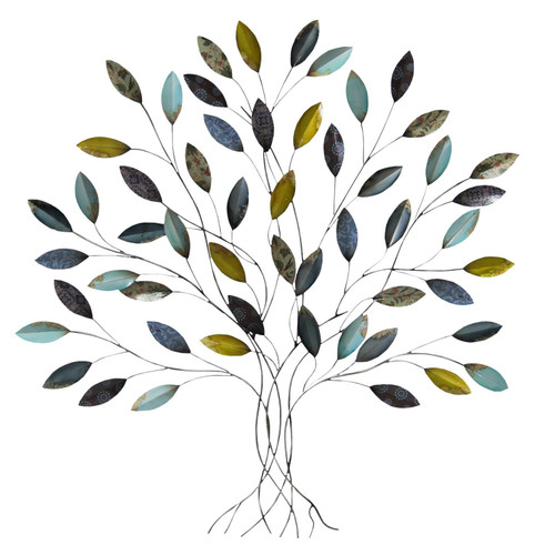 """36"""" X 1.75"""" X 33"""" Multi-color Whimsical Tree Wall Decor"""