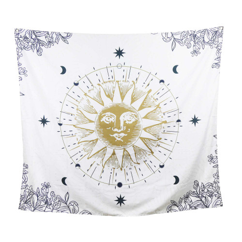 Sun Moon and Stars Celestial Wall Tapesty