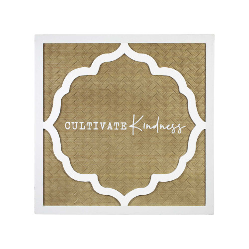 """16"""" X 16"""" 'Cultivate Kindness"""" Framed Wall Art"""