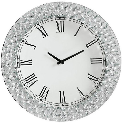 Bling Round Faux Crystal Wall Clock