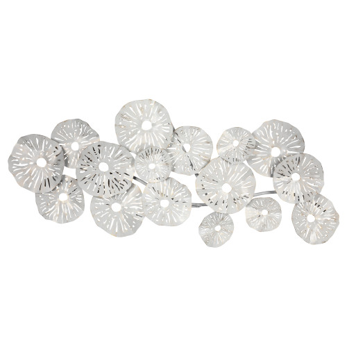Off White and Metallic 3D Sand Dollar Wall Decor