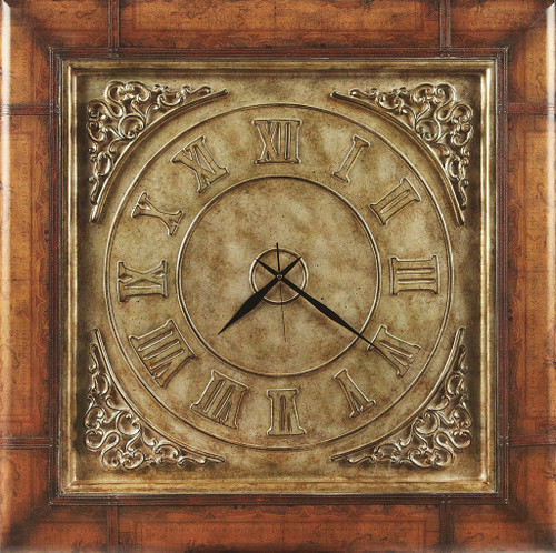 Old World Vintage Style Map and Clock Coffee Table