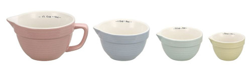 Batter Bowl Style Multicolored Measuring Cups - Set of 4