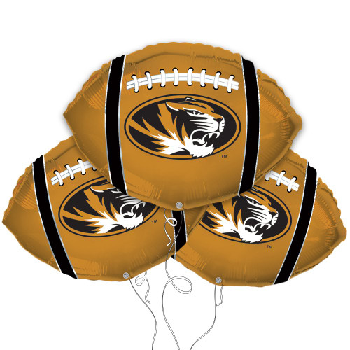 University of Missouri Tigers Collegiate Mylar Balloons - Pack of 3