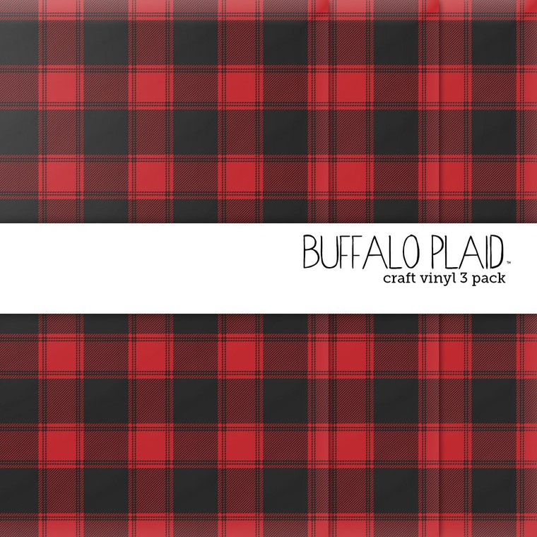 Buffalo Plaid Craft Vinyl - 3 Pack