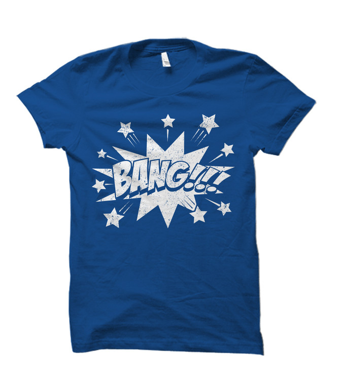 BANG!!! Comic Book Burst Adult T-Shirt