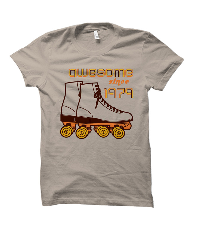 Awesome Since 1979 Retro Style Adult T-Shirt