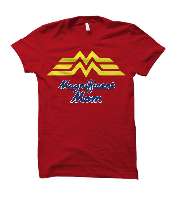 Magnificent Mom Wonder Woman Themed Adult T-Shirt