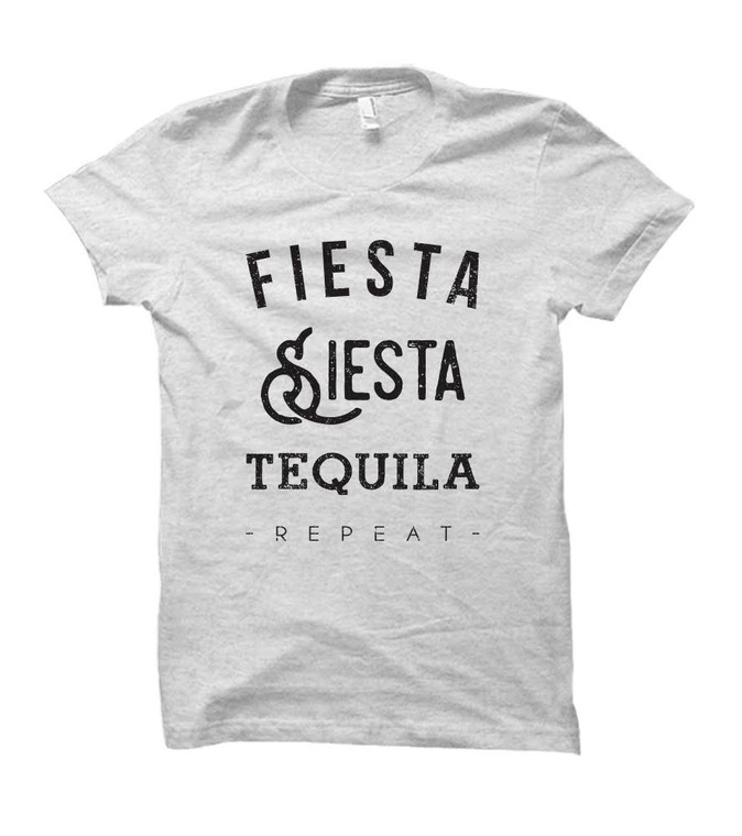Fiesta Siesta Tequila Repeat Adult T-Shirt