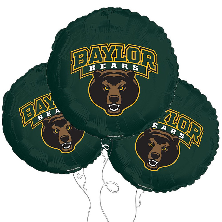 Baylor Bears Collegiate Mylar Balloons - Pack of 3