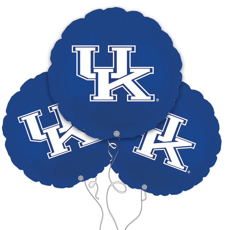 University of Kentucky Wildcats Collegiate Mylar Balloons - Pack of 3