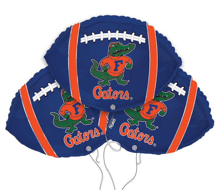 University of Florida Gators Collegiate Mylar Balloons - Pack of 3
