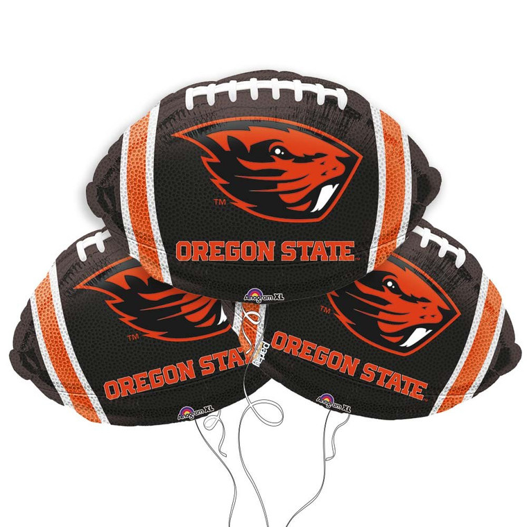 Oregon State University Beavers Collegiate Mylar Balloons - Pack of 3