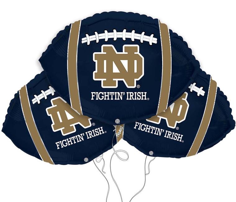 Notre Dame Fighting Irish Collegiate Mylar Balloons - Pack of 3