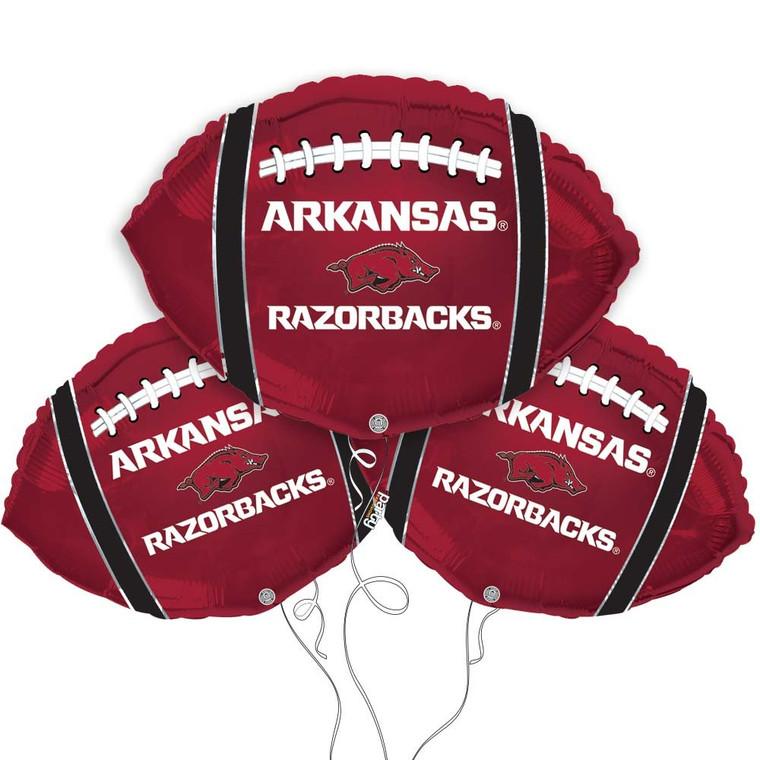 University of Arkansas Razorbacks Collegiate Mylar Balloons - Pack of 3