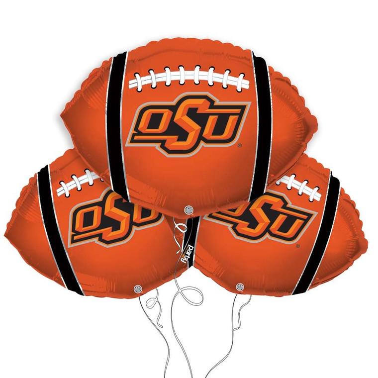 Oklahoma State University Cowboys Collegiate Mylar Balloons - Pack of 3