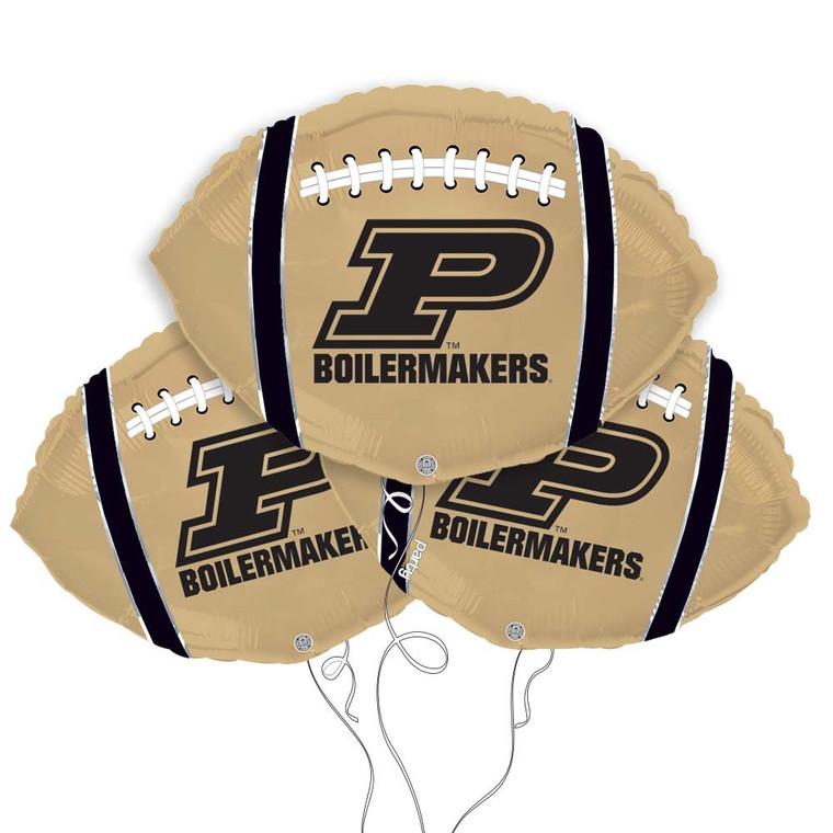 Purdue Boilermakers Collegiate Mylar Balloons - Pack of 3