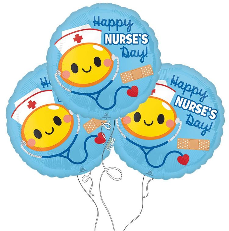Happy Nurse's Day Mylar Balloon - 3-Pack