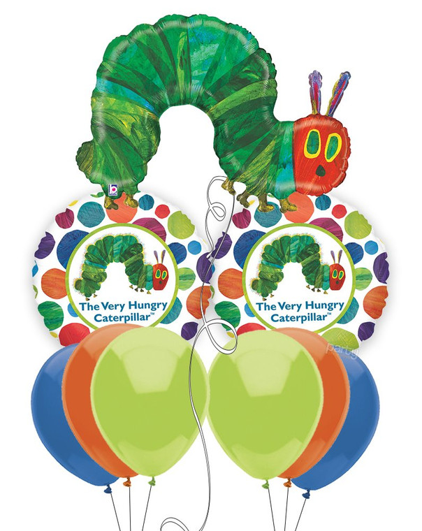 The Very Hungry Caterpillar Mylar Balloon Bouquet
