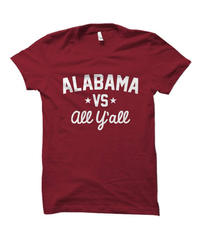 Alabama Versus All Y'all Collegiate T-Shirt