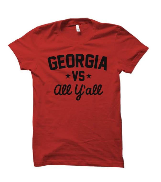 Georgia Versus All Y'all Collegiate T-Shirt