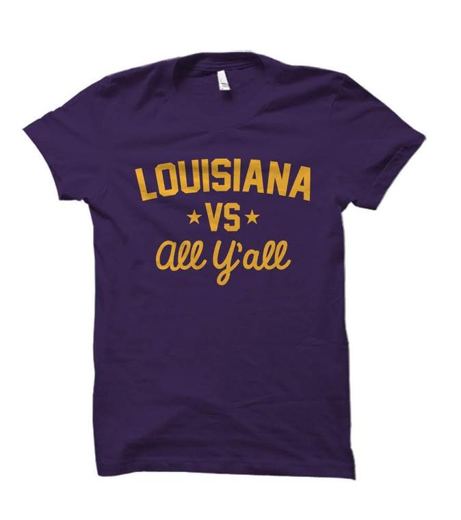 Louisiana Versus All Y'all Collegiate T-Shirt