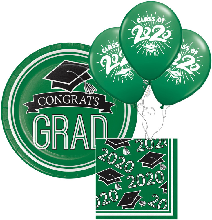 Class of 2020 Dessert Plates & Napkins - Green