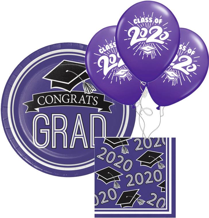 Class of 2020 Dessert Plates & Napkins - Purple