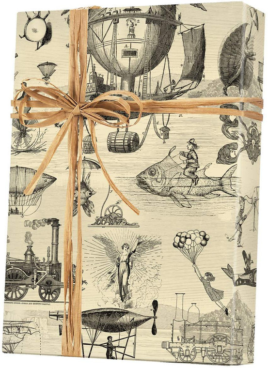 """Extraordinary Voyages Rolled Gift Wrapping Paper - 24"""" x 15'"""