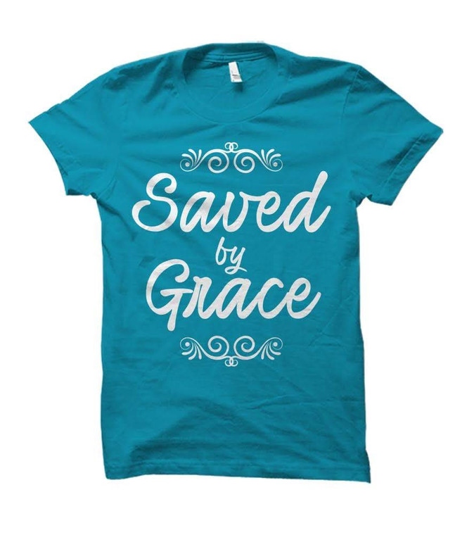 Saved by Grace Adult T-Shirt
