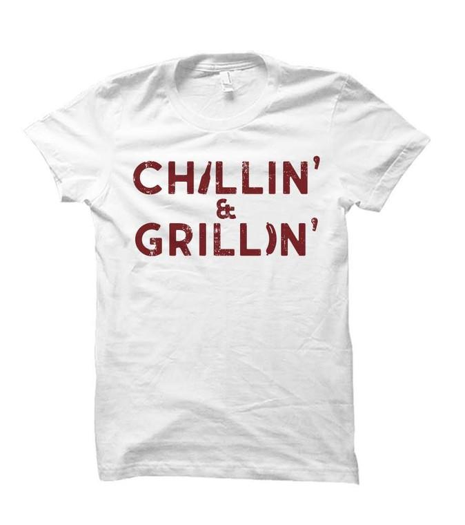 Chillin' & Grillin' BBQ Themed Adult T-Shirt