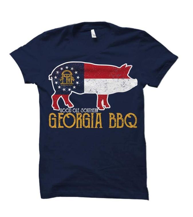 Good Ole Southern Georgia BBQ Adult T-Shirt