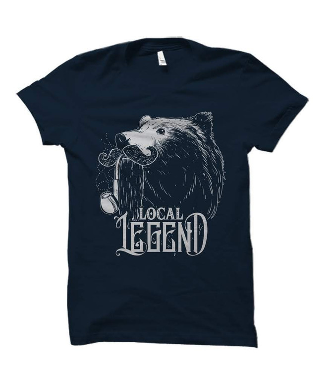 Local Legend Grizzly Bear Adult T-Shirt