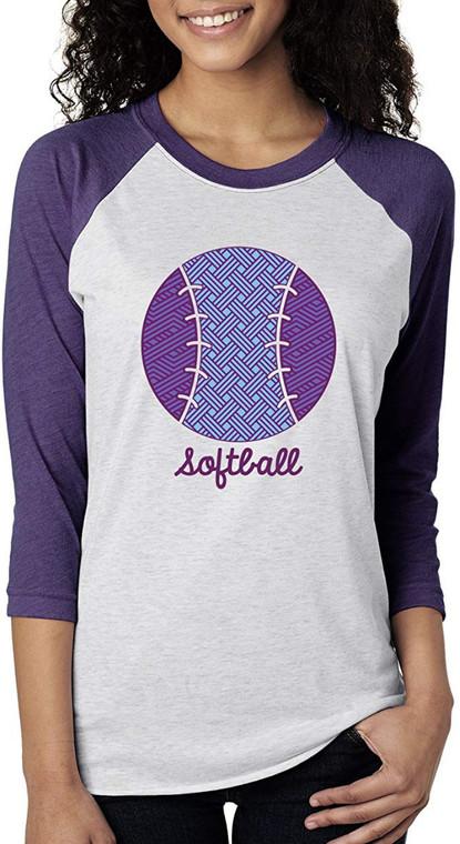 Softball Three-Quarter Length Sleeve Adult Shirt