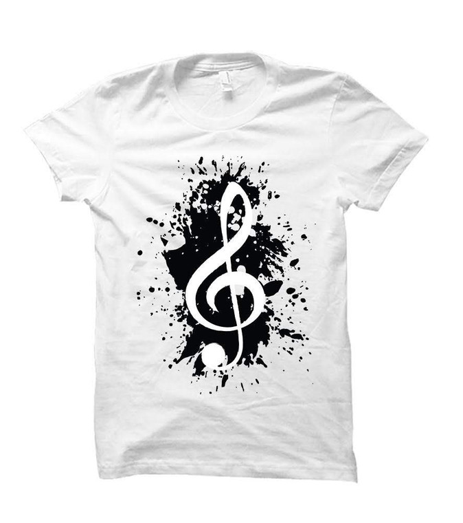 Music Note Paint Splatter Adult & Youth T-Shirt