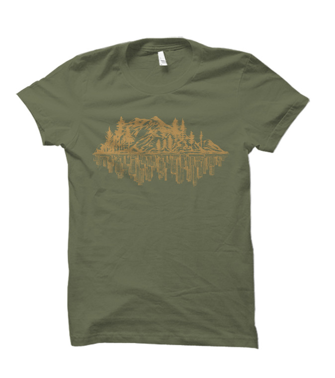 Mountains City Reflection Tee