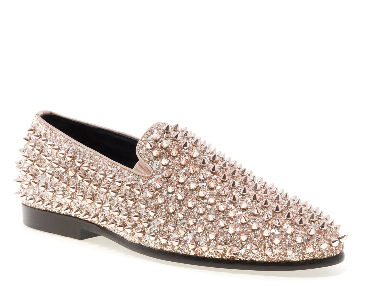 Luxor Rose Gold Studs Slip On Loafer Luxor Rose Wedding Shoes Party Shoes Prom Shoes