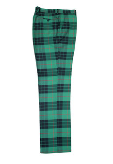Plaid Green Black Red Pants (PLD-305-GREEN-1)
