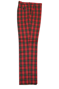 Plaid Red Black Yellow Pants (PLD-305-RED-4)