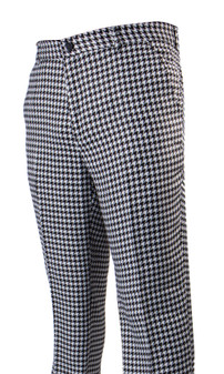 Plaid White Big Houndstooth Pants