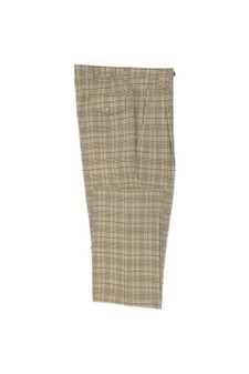 Tiglio Oatmeal Caramel Wide Leg Wool Dress Pant (TLS20048/4)