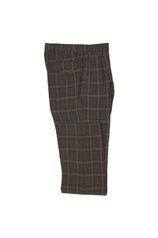 Tiglio Brown Tan Wide Leg Wool Dress Pant (TLS20046/1)