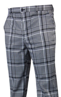 Plaid Black White Plaid Pants ( PLD-205-BLACK-1)