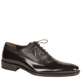 Mezlan Postdam Black Deerskin Shoes (POSTDAM-16409-BLACK)