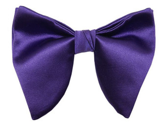Purple Satin Butterfly Tear Drop Bowtie