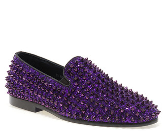 Luxor Purple Studs Slip-on Loafer
